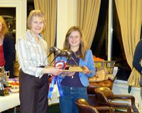 Katy Mellor with the Showgirl II Trophy