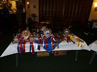 The Trophies and Awards laid out - thanks to Pennie for working everything out