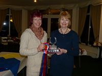 Anna Collins with the Cheshire Group Trophy
